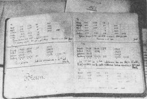 Unikátní snímek staničního deníku vysílače ve Kbelích z roku 1923