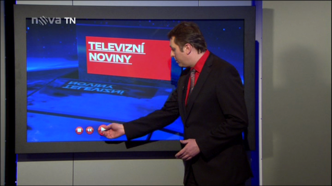 nova - televizní noviny - dotyková obrazovka