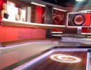 Logo televizní skupiny Joj vychází z původní spirály, viz vyobrazení ve studiu