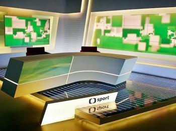 Studio ČT sport. Fotografii poskytla Česká televize