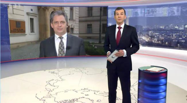 Živý vstup s Jiřím Dienstbierem, reprofoto ČT / RadioTV.cz
