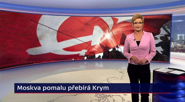 Marcela Augustová v novém virtuálním studiu Událostí, foto: Česká televize