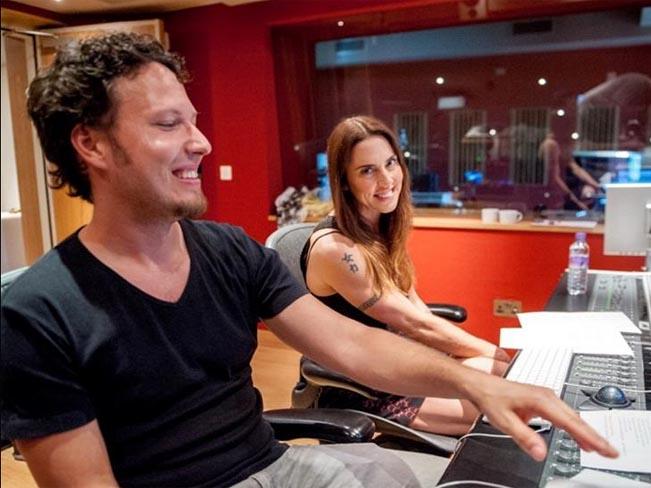 Peter Aristone a Melanie C společně ve studiu. Foto: Brainzone