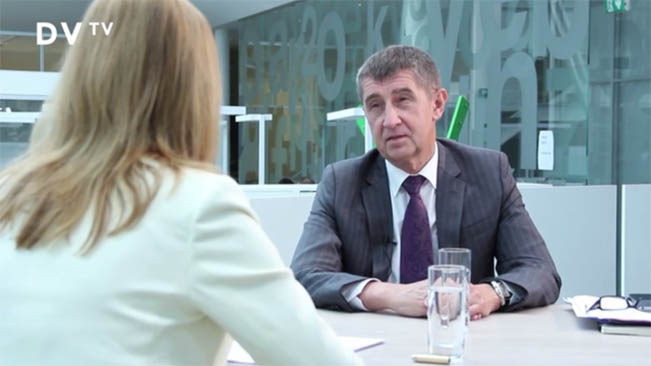 Daniela Drtinová v rozhovoru s ministrem financií Andrejem Babišem