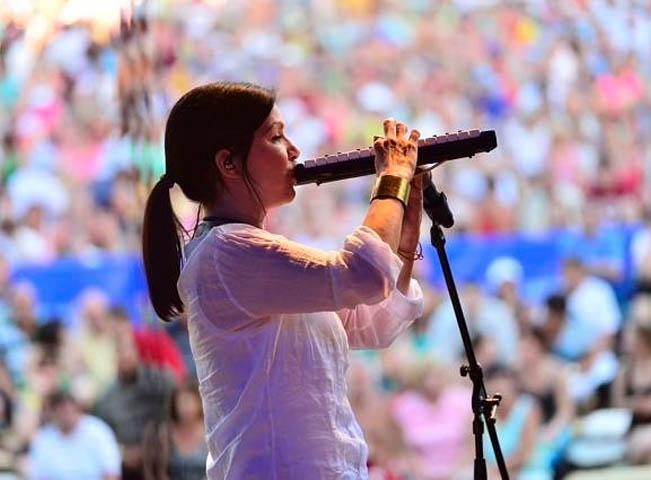 Poprvé na narozeninovém pódiu Rádia BLANÍK zazpívala i Anna K