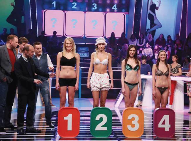Momentka z natáčení soutěže Muži proti ženám, foto: TV Prima
