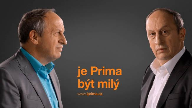 Jan Kraus v ukázce  vizuálu TV Prima z podzimu 2014