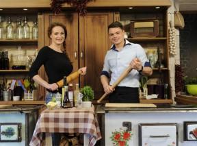 Markéta Hrubešová a Patrik Bečvář v pořadu Recepty pro radost