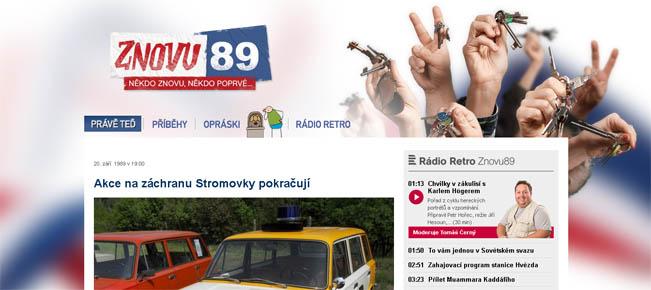 Screenshot portalu Českého rozhlasu - Znovu89