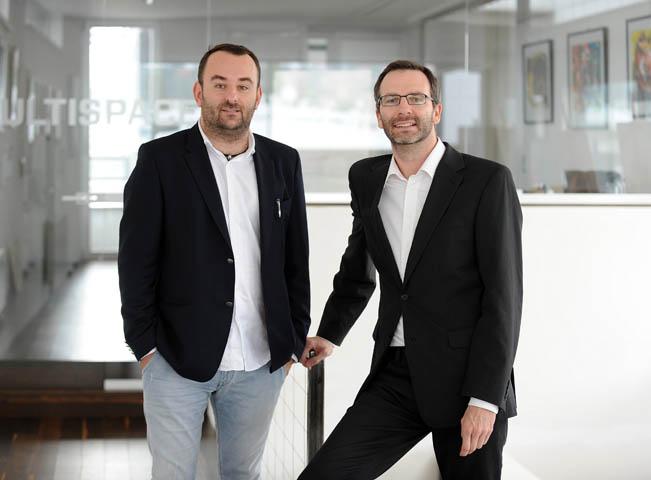Nový strategický partner Mediáře Michal Bařina a dosavadní vydavatel Ondřej Aust, foto: Martin Kabát