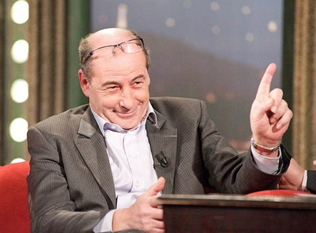 Michel Fleischmann v dobré náladě v Show Jana Krause. Ilustrační foto: TV Prima