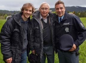 Filip Tomsa, Jaroslav Satoranský a Michal Holan v seriálu Policie Modrava, foto: TV Nova