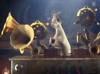 Screenshot z videospotu Radia 1 s legendární kozou