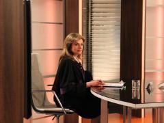 Simona Prasková v roli soudkyně Barbary, foto: TV Barrandov