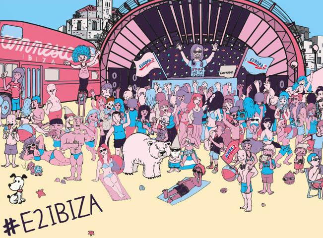 Vizuál k soutěži Ibiza 2015 s Evropou 2