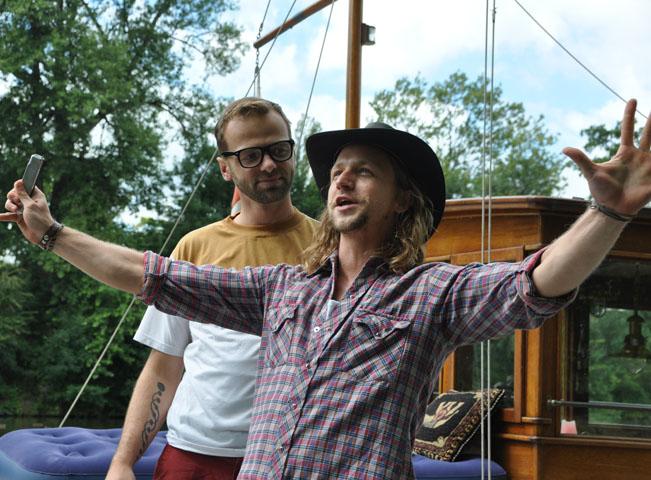 Lukáš Langmajer a Tomáš Klus v seriálu Na vodě, foto: TV Nova