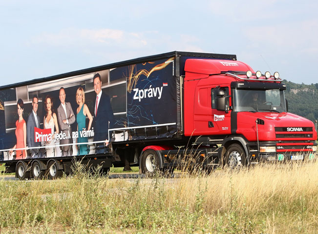 Prima roadshow 2015 kamion, foto: FTV Prima
