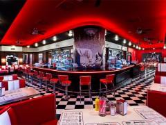 Prostor hudebního klubu a restaurace James Dean v Praze, foto: jamesdean.cz