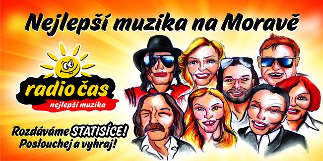Vizuál k aktuální kampani Rádia ČAS - Nejlepší muzika na Moravě