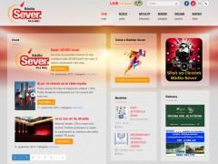 Screenshot webu Rádia Sever