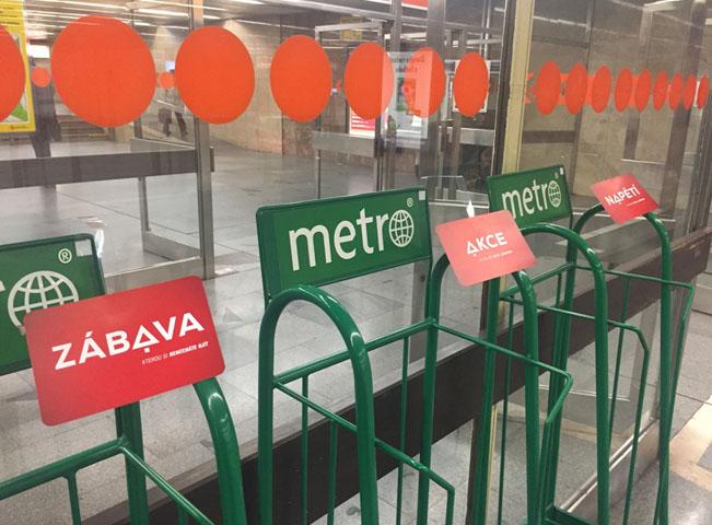Ukázka kampaně ve stanicích metra, foto: FTV Prima