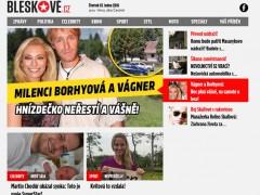 Screenshot webu Bleskově.cz