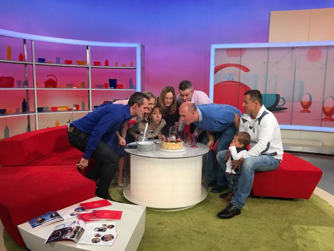 Narozeninová Snídaně s Novou dne 4. února 2016. Foto: archiv TV Nova