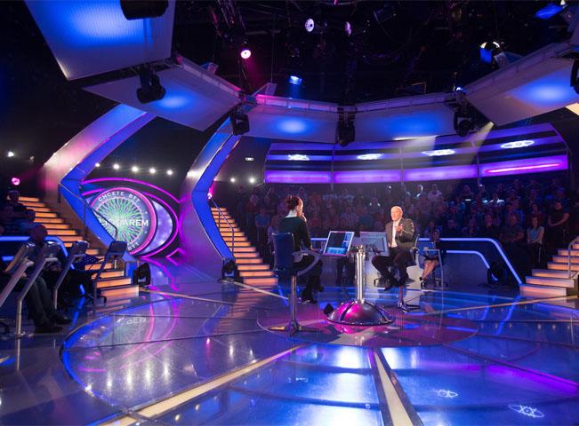 Nový vzhled scény v pořadu Chcete být milionářem. Foto: TV Nova