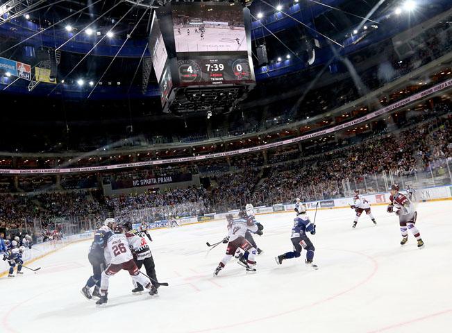 HC Sparta Praha v O2 aréně. Ilustrační fotografii poskytla společnost O2 Czech Republic