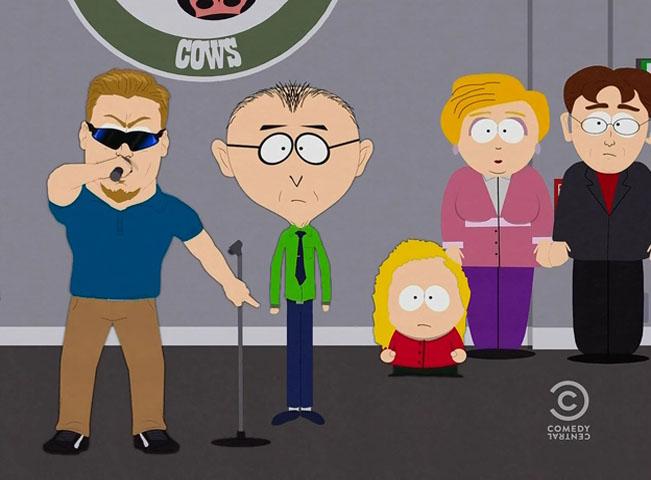 """Novou postavou Městečka South Park je v 19. sérii """"korektní ředitel"""" - vlevo. Zdroj: Prima Comedy Central / VIMN"""