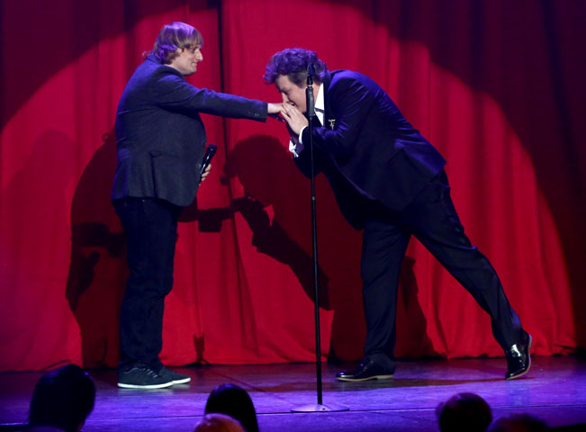 Duel v pořadu Comedy Club (vlevo Lukáš Pavlásek). Foto: Viacom International Media Networks