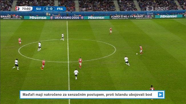 Ukázka kombinace klasického vysílání a zpravodajství z HbbTV aplikace České televize