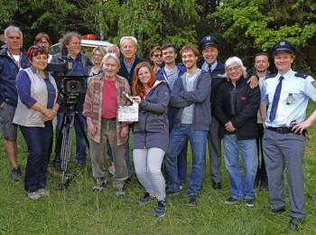 Padla první klapka natáčení druhé řady seriálu Policie Modrava. Foto: archiv TV Nova