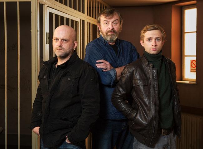 Představitelé seriálu Rapl. Foto: Česká televize
