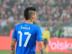 Hvězda týmu SSC Neapol Marek Hamšík v dresu slovenské reprezentace. Ilustrační foto Shutterstock.com / Tomasz Bidermann