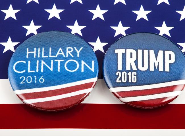 Kampaň Hillary a Trump, foto: Shutterstock.com