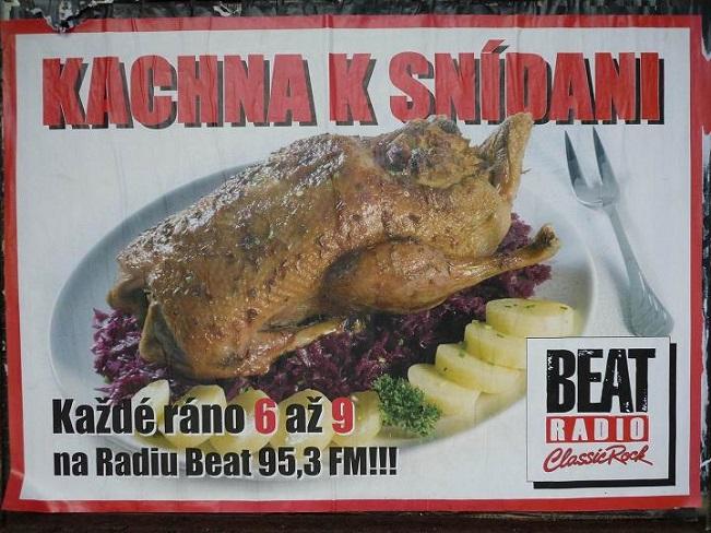 Kachna k snídani - zdroj: Radio Beat