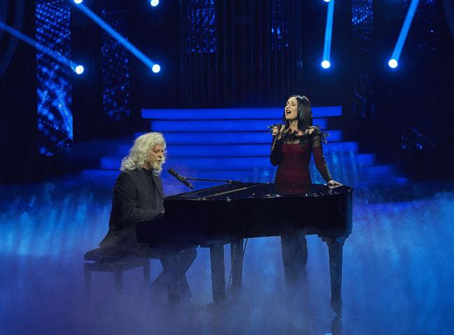 Miroslav Etzler a Anna Fialová v pořadu Tvoje tvář má známy hlas. Foto: archiv TV Nova