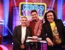 Kdo to ví? - zleva Michal Suchánek, Michal Novotný a Richard Genzer. Zdroj. TV Barrandov