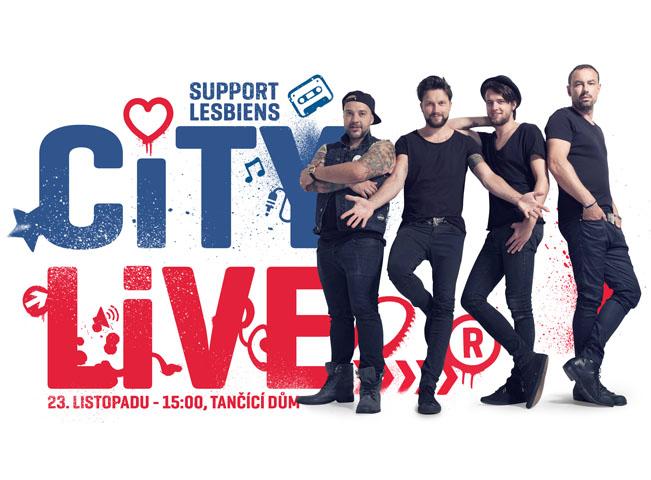 Vizuál k pátému koncertu CITY LIVE