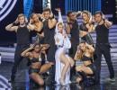 Ukázka z desáté epizody show Tvoje tvář má známý hlas II. Markéta Procházková vystupuje jako Kylie Minogue. Foto: archiv TV Nova