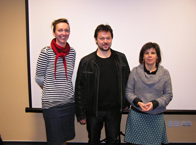 Zleva: Britt Jensen, Ivan Studený, Andrea Hanáčková. Autor: Tomáš Tomka
