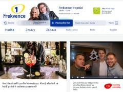 Náhled vrchní části nového webu rádia Frekvence 1
