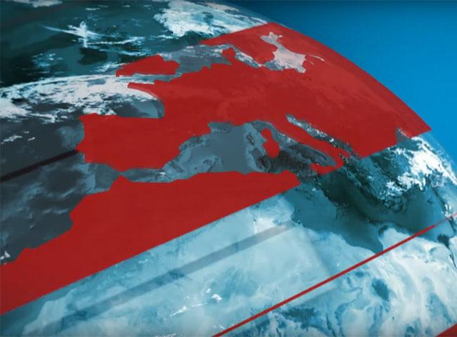 Frame z úvodní znělky zpravodajství RTVS. Zdroj: YouTube kanál RTVS