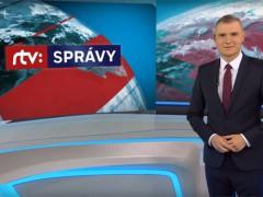 Náhled virtuálního studia a vizuálu hlavní zpravodajské relace Správy RTVS. Zdroj: YouTube kanál RTVS