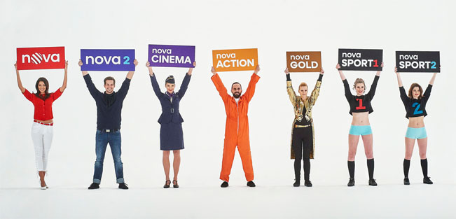 Nové názvy vybraných stanic skupiny Nova. Foto: archiv TV Nova
