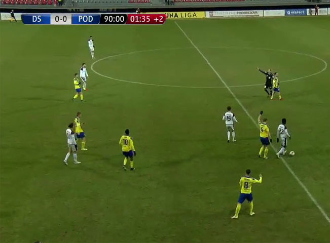 Grafika fotbalových přenosů je na dobré úrovni. Screenshot Huste.tv