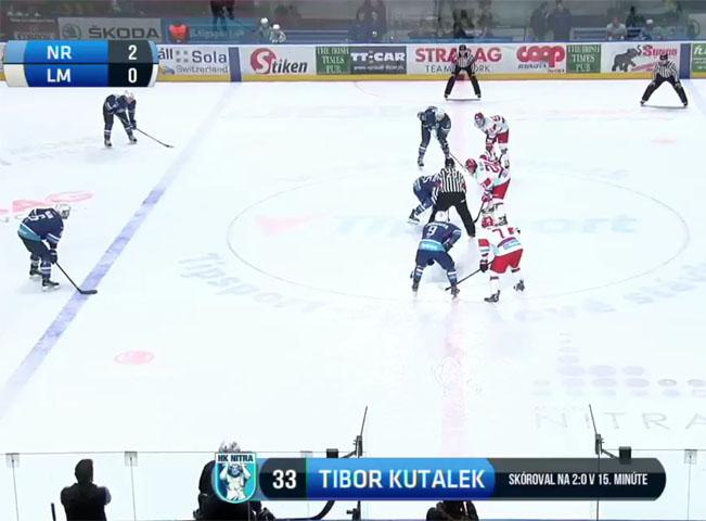 Screenshot z přenosu slovenské Tipsport ligy Nitra - Liptovský Mikuláš na Huste.tv