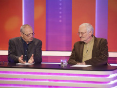 Milan Kňažko a Milan Lasica v pořadu Sedem na TV JOJ. Foto: JOJ Group