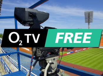 Logo kanálu O2 TV Free - na pozadí ilustrační fotografie Shutterstock.com